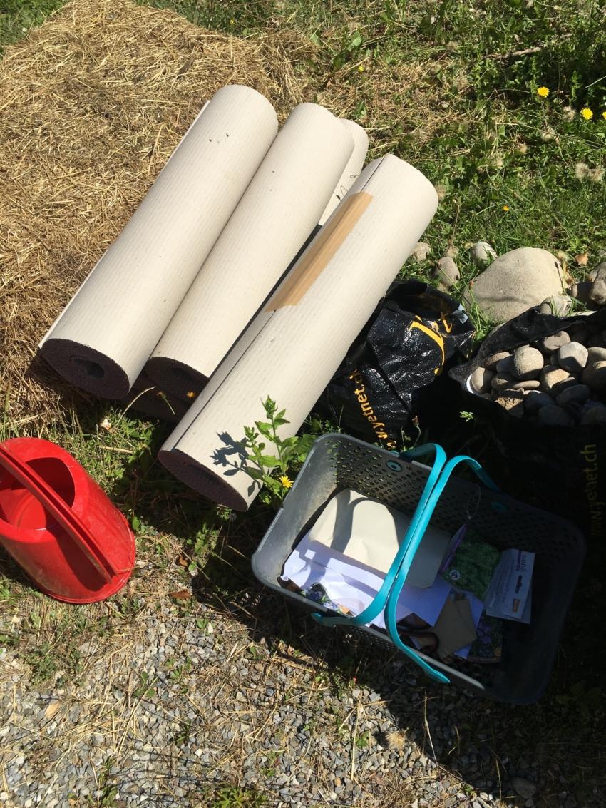 Materialien im Garten